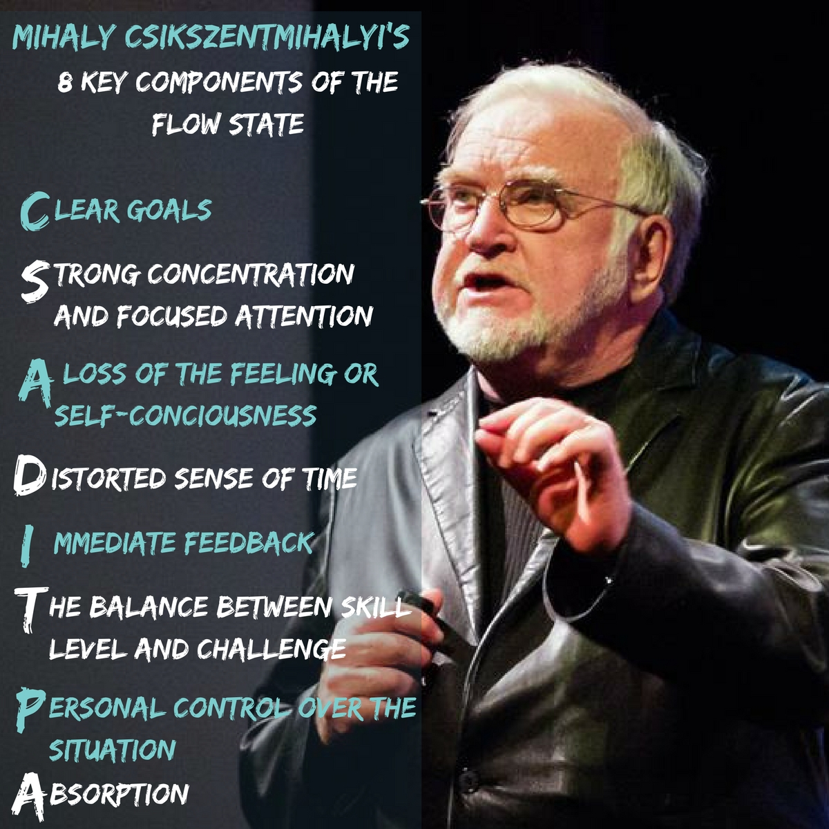 Mihaly Csikszentmihalyi 8 key components of the Flow State